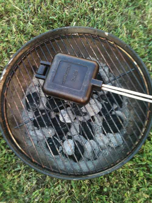 Toasting a Snack on the Grill