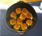 Dutch Oven Cheese Bombs, Yum!